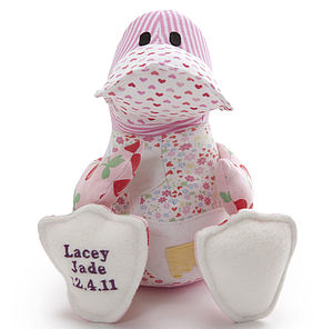 Personalised Baby Clothes Keepsake Duck - keepsake toys