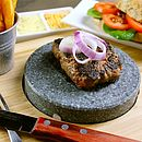 Round Volcanic Stone Steak Set