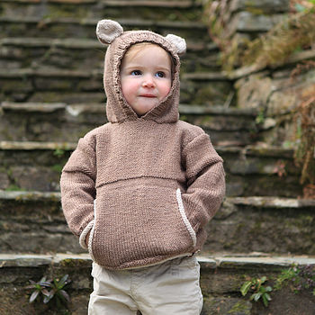 Teddy Bear Hooded Top