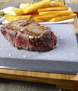Lava Stone Steak Set - barbecue accessories
