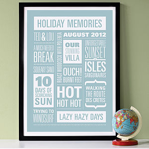 Personalised Memories Print - view all gifts for him