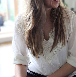 'Cotton Ball' Organic Cotton Crochet Blouse