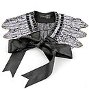 Deco Style Sequin Cape With Ribbon Ties