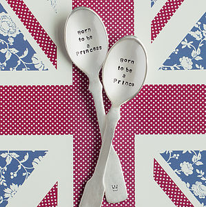 'Born To Be A' Prince Or Princess Teaspoon