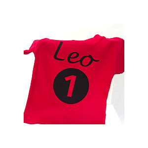 Personalised Number One T Shirt - boy's t-shirts