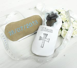 Personalised Keepsake Christening Shoes - christening wear