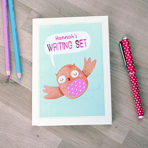 Personalised Owl Notecards Writing Set - view all gifts for babies & children