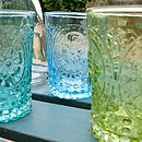 Glass Flower Tumbler