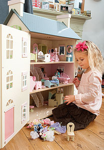 Cherry Tree Hall Dolls House With Furniture - gifts for babies