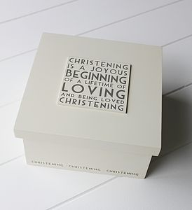 Christening Keepsake Box - christening gifts