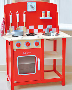 Wooden Kitchenette Diner Play Scene - inspired christmas gifts