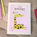 Personalised Giraffe Notecards Writing Set