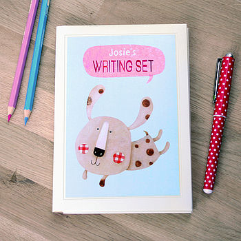 Personalised Puppy Notecards Writing Set