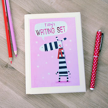 Personalised Zebra Notecards Writing Set