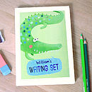 Personalised Crocodile Notecards Writing Set