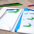 Personalised Boy's Notecards Writing Set