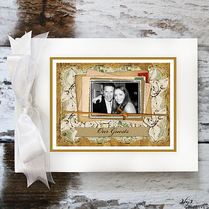 Personalised Wedding Guest Book Vintage Pic - albums & guestbooks