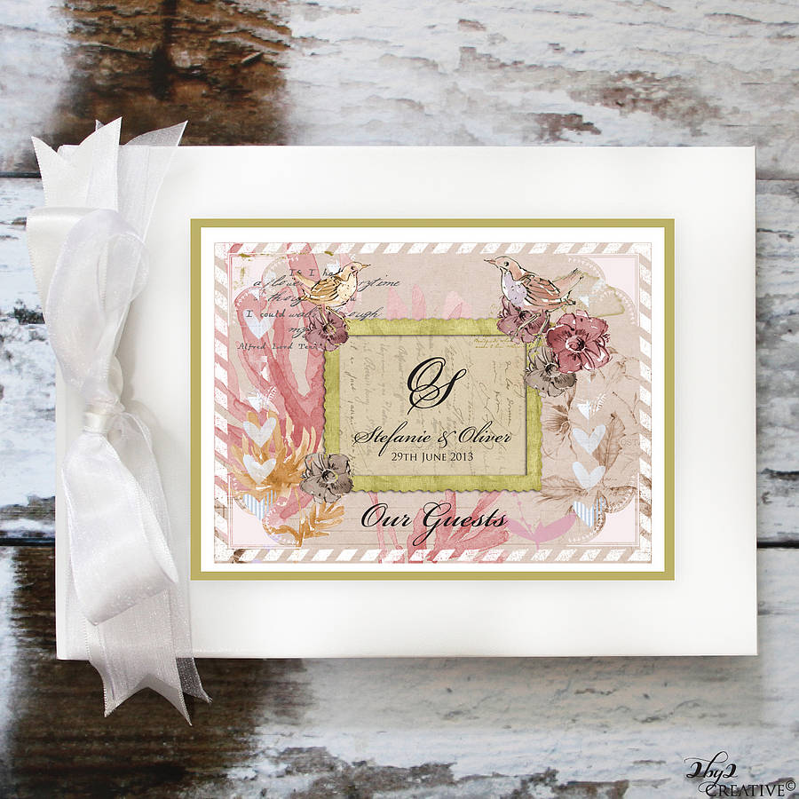 vintage wedding guest book by 2by2 creative | notonthehighstreet.com