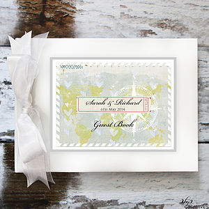 Wedding Guestbook Travel Theme - albums & guestbooks