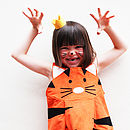 Tiger Girls Play Dress Up Costume