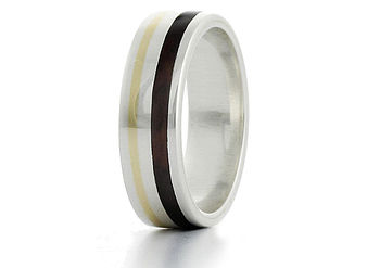'Aurie' Silver And Wood Ring