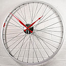 Bicycle Wheel Clock 57 Cm Red