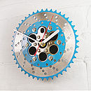 BMX Two Tone Chainring Clock Blue