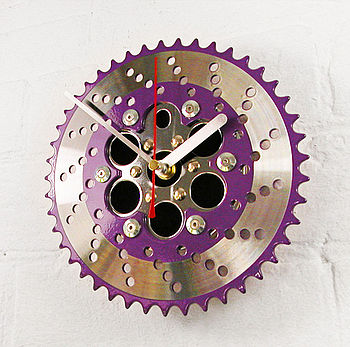 BMX Two Tone Chainring Clock Purple