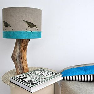 Curlew Lampshade - bedroom