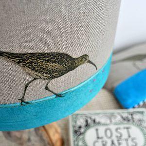 Curlew Linen Lampshade - lighting