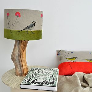 Pied Wagtail And Knap Weed Lampshade - bedside lamps
