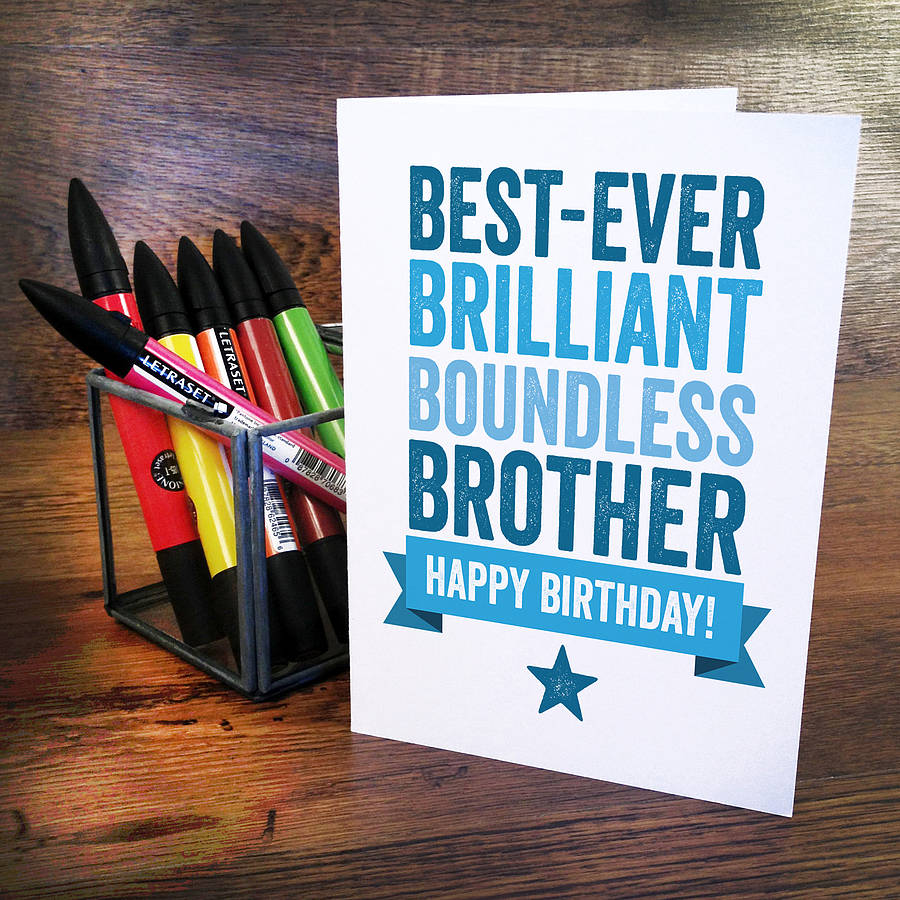 personalised birthday card for brother by a is for alphabet – Birthday Cards for Brother