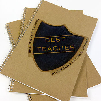Personalised Badge Teachers Notebook