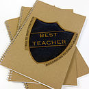 Thumb personalised badge teachers notebook