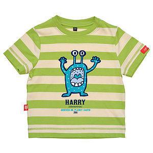 Personalised Monster Alien T Shirt