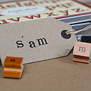 Rubber Alphabet Stamps And Ink Pad Lower Case