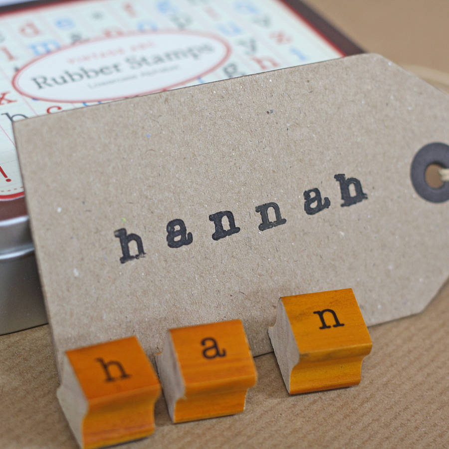 Mini Rubber Alphabet Stamps By The Wedding Of My Dreams