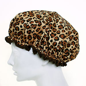 Cheetah Shower Cap