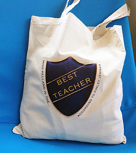 Personalised Best Badge Bag - gifts for teachers