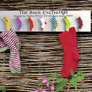 The Sock Exchange - hooks, pegs & clips