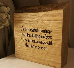A Successful Marriage Requires… - outdoor decorations