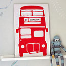 Personalised Bus Vinyl Wall Sticker