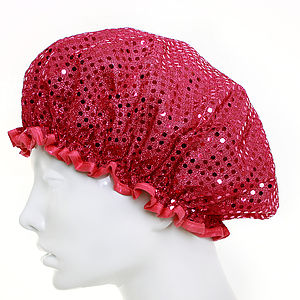 Twinkle Cerise Shower Cap - shower caps