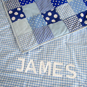 Personalised Patchwork Quilt - children's room