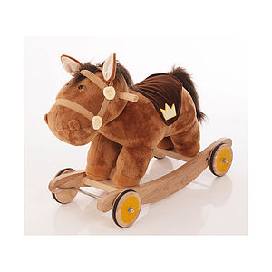 Billy Plush Rocking And Ride On Horse - toys & games