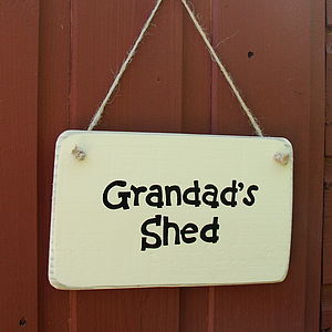 Personalised Shed Sign - living room