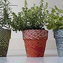 Fabric Flower Pot Set