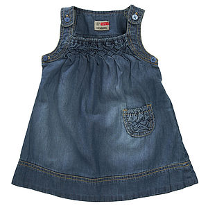 Irene Newborn Denim Spencer Dress - clothing