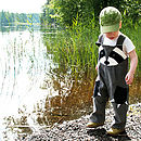 Boy's Raccoon Dungaree