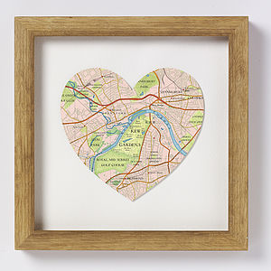 Kew Gardens Map Heart Print - shop by price